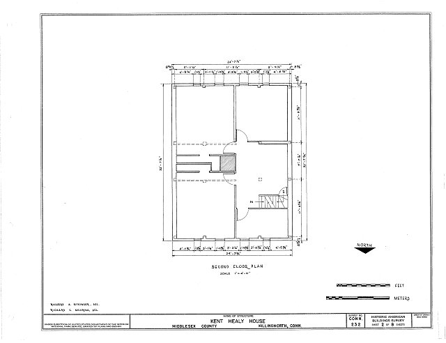 HABS CONN,4-KILWO,2- (sheet 2 of 8) - Kent Healy House, Chestnut Hill Road, Killingworth, Middlesex County, CT