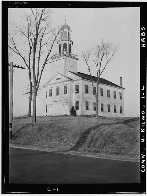 1.  Historic American Buildings Survey Harold H. Davis, Photographer February 1937 GENERAL VIEW SHOWING FRONT AND SIDE    - North Congregational Church, Killingworth, Middlesex County, CT