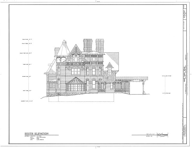 HABS CONN,2-HARF,16- (sheet 11 of 14) - Mark Twain House, 351 Farmington Avenue (corrected from original address of 531 Farmington Avenue), Hartford, Hartford County, CT