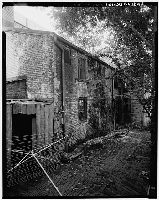 2.  Historic American Buildings Survey George Eisenman, Photographer Summer 1967 BRICK ELL ON REAR - Adams-Mason House, 1072 Thomas Jefferson Street Northwest, Washington, District of Columbia, DC