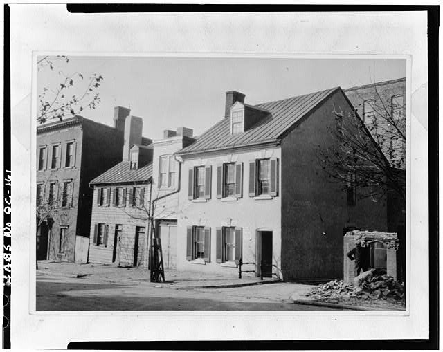 8.  Historic American Buildings Survey Photocopy: Original in the Library of Congress Pictorial Archives of Early American Architecture EAST (FRONT) ELEVATION C. 1899 - Adams-Mason House, 1072 Thomas Jefferson Street Northwest, Washington, District of Columbia, DC