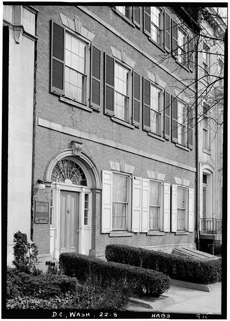 "8.  Historic American Buildings Survey John O. Brostrup, Photographer March 22, 1937 9:40 A.M. VIEW FROM SOUTHWEST (front). - Timothy Caldwell House, 2017 ""Eye"" Street Northwest, Washington, District of Columbia, DC"