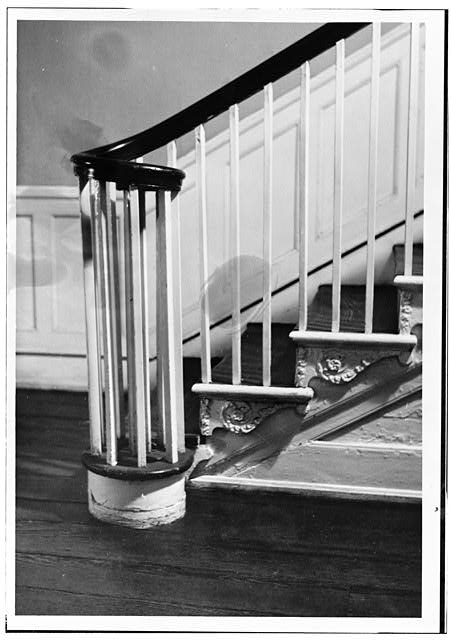 "16.  Historic American Buildings Survey Russell Jones, Photographer June 1963 STAIR DETAIL First Floor - Timothy Caldwell House, 2017 ""Eye"" Street Northwest, Washington, District of Columbia, DC"
