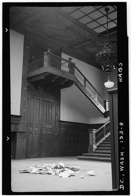 8.  Historic American Buildings Survey Frederick D. Nichols, Photographer December 1938 THE GRAND STAIRCASE, WEST HALF - John R. McLean House, 1500 I Street Northwest, Washington, District of Columbia, DC