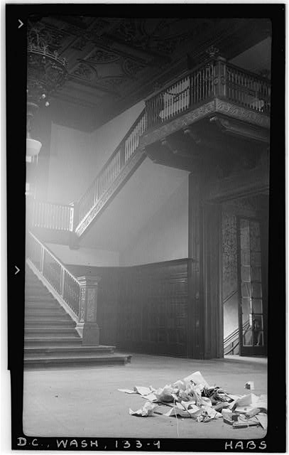 9.  Historic American Buildings Survey Frederick D. Nichols, Photographer December 1938 THE GRAND STAIRCASE, EAST HALF - John R. McLean House, 1500 I Street Northwest, Washington, District of Columbia, DC