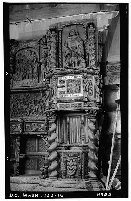 16.  Historic American Buildings Survey Frederick D. Nichols, Photographer December 1938 DETAIL OF RIGHT HALF OF SIDEBOARD IN DINING ROOM - John R. McLean House, 1500 I Street Northwest, Washington, District of Columbia, DC