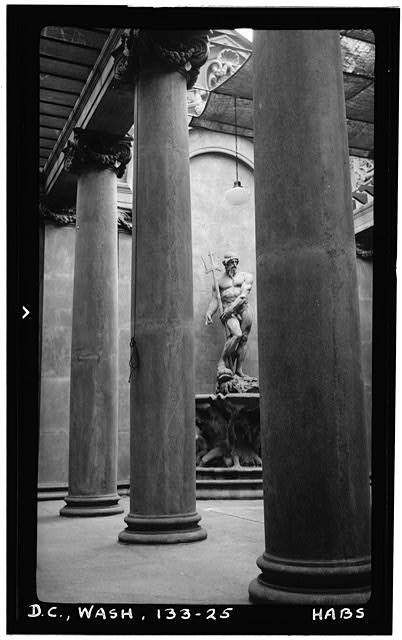 25.  Historic American Buildings Survey Frederick D. Nichols, Photographer December 1938 DETAIL OF COLUMNS IN CONSERVATORY - John R. McLean House, 1500 I Street Northwest, Washington, District of Columbia, DC