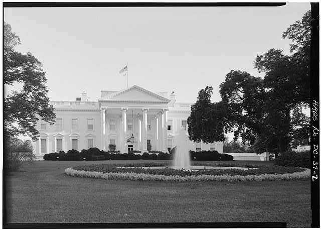 NORTH FRONT - White House, 1600 Pennsylvania Avenue, Northwest, Washington, District of Columbia, DC