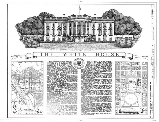 Cover Sheet - White House, 1600 Pennsylvania Avenue, Northwest, Washington, District of Columbia, DC