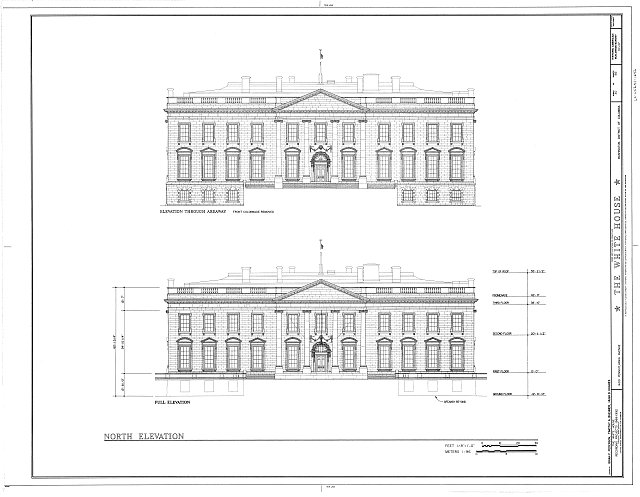 HABS DC,WASH,134- (sheet 30 of 83) - White House, 1600 Pennsylvania Avenue, Northwest, Washington, District of Columbia, DC