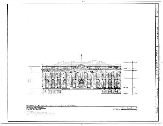 HABS DC,WASH,134- (sheet 31 of 83) - White House, 1600 Pennsylvania Avenue, Northwest, Washington, District of Columbia, DC