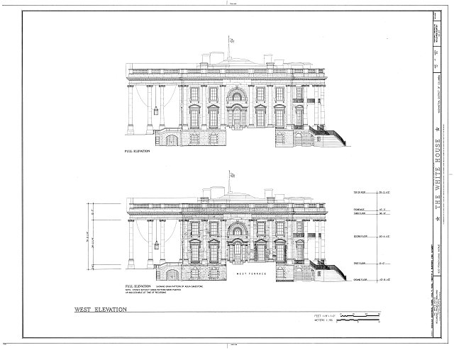 HABS DC,WASH,134- (sheet 32 of 83) - White House, 1600 Pennsylvania Avenue, Northwest, Washington, District of Columbia, DC