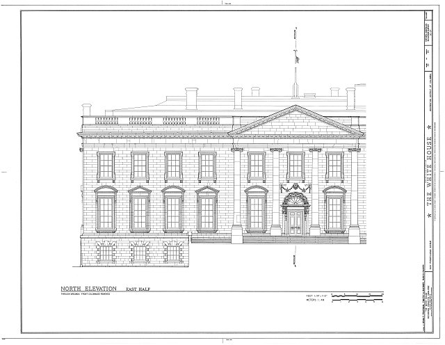 HABS DC,WASH,134- (sheet 39 of 83) - White House, 1600 Pennsylvania Avenue, Northwest, Washington, District of Columbia, DC