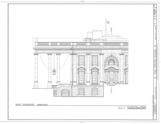 HABS DC,WASH,134- (sheet 43 of 83) - White House, 1600 Pennsylvania Avenue, Northwest, Washington, District of Columbia, DC