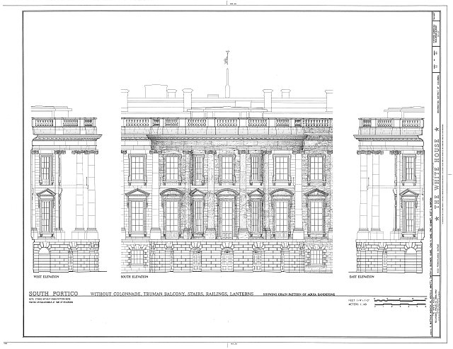HABS DC,WASH,134- (sheet 52 of 83) - White House, 1600 Pennsylvania Avenue, Northwest, Washington, District of Columbia, DC