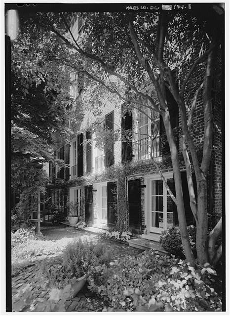 View of south elevation, looking from east to west generally - Bodisco House, 3322 O Street, Northwest, Washington, District of Columbia, DC