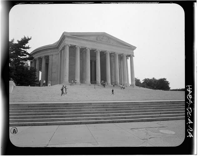 24.  View from the northeast. August 1991. - Jefferson Memorial, East Potomac Park, Washington, District of Columbia, DC