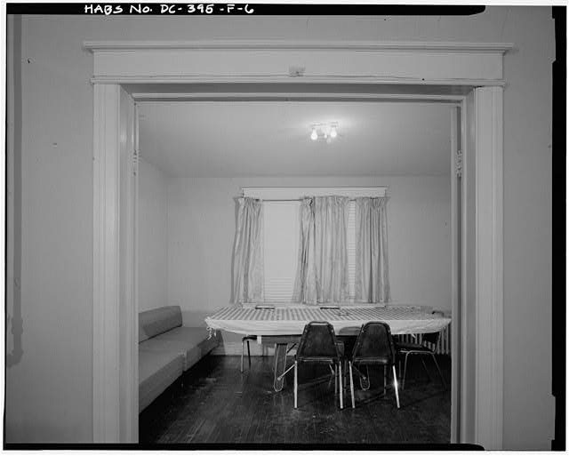 6.  INTERIOR VIEW NORTHEAST, SECOND FLOOR FRONT PARLOR - Howard Road Historic District, Minnie B. Smoot Apartment Building, 1015 Howard Road, Washington, District of Columbia, DC