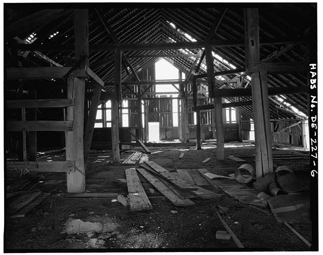 6.  INTERIOR VIEW OF WEST END LOOKING WEST - Rothwell Farm, Barn, Route 458 near Route 42, Middletown, New Castle County, DE