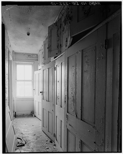 10.  SECOND FLOOR, STORAGE CLOSETS, SOUTHWEST CORNER OF BUILDING - George Lobdell House, U.S. Route 13, Wilmington vicinity, Minquadale, New Castle County, DE