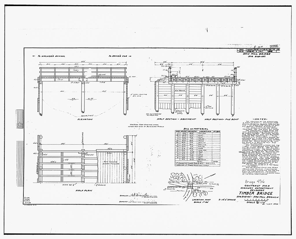 Civil Engineering Plan Elevation Section : Photocopy of engineering drawing quot elevation half plan