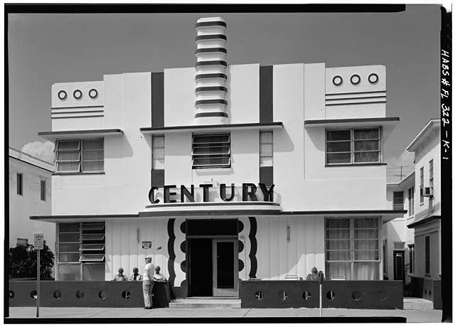 1.  EAST ELEVATION - Century Hotel, 140 Ocean Drive, Miami, Miami-Dade County, FL