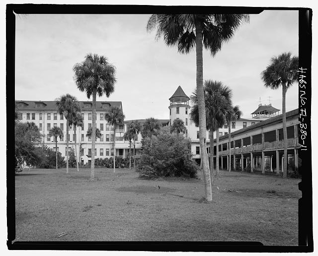 FRONT, COPULA (NORTH), PORTION OF NORTH WING:  CAMERA DIRECTION EAST  - Ormond Hotel, 15 East Granada, Ormond Beach, Volusia County, FL