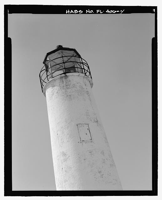SOUTHWEST VIEW OF LANTERN, 105 DEGREES OFF NORTH - Cape Saint George Lighthouse, Cape St. George , Apalachicola, Franklin County, FL