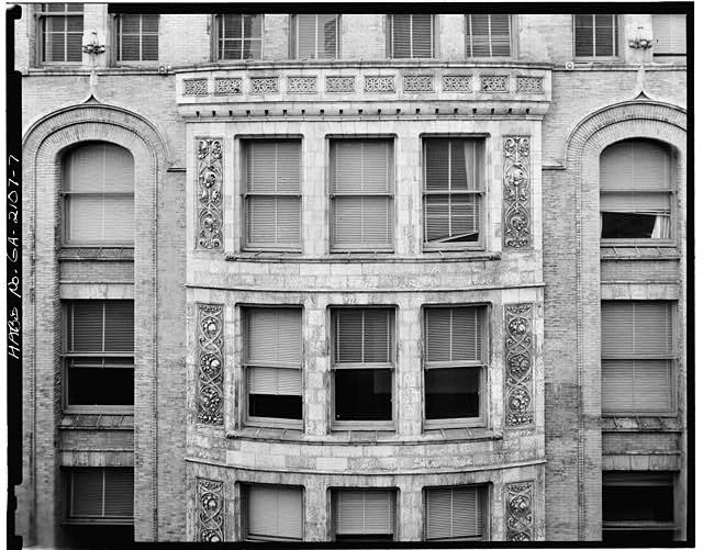 7.  DETAIL, PRYOR STREET FACADE CENTRAL BAY, SIXTH AND SEVENTH FLOORS - Equitable Building, 25 Pryor Street Northeast, Atlanta, Fulton County, GA