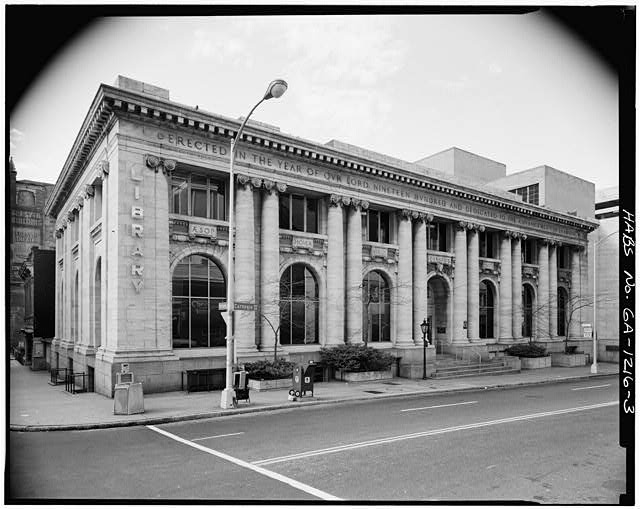3.  NORTH FRONT AND EAST SIDE - Carnegie Library of Atlanta, 126 Carnegie Way, Atlanta, Fulton County, GA