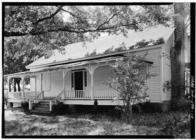 10.  PERSPECTIVE VIEW OF NORTH (FRONT) - Kolb House, Powder Springs Road, Kennesaw, Cobb County, GA