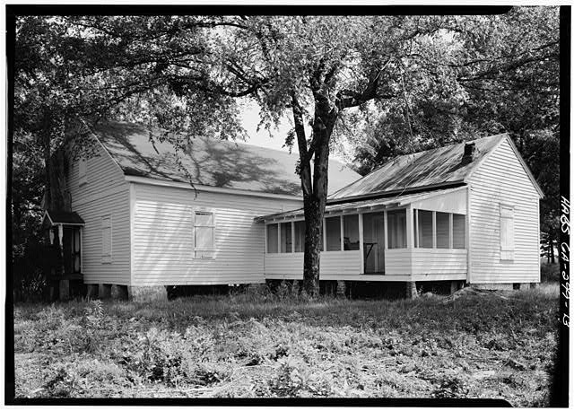 13.  PERSPECTIVE VIEW OF SOUTH (REAR) AND WEST SIDE - Kolb House, Powder Springs Road, Kennesaw, Cobb County, GA