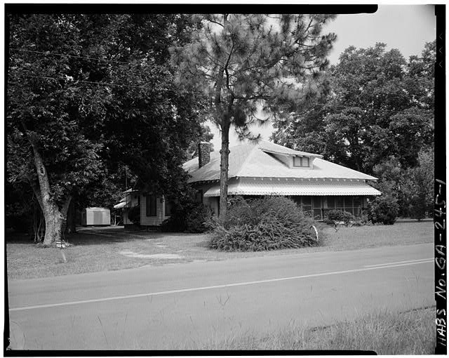 1.  SOUTHWEST FRONT - Jimmy Carter Boyhood Home, Old Plains Highway (Lebanon Cemetery Road), Plains, Sumter County, GA
