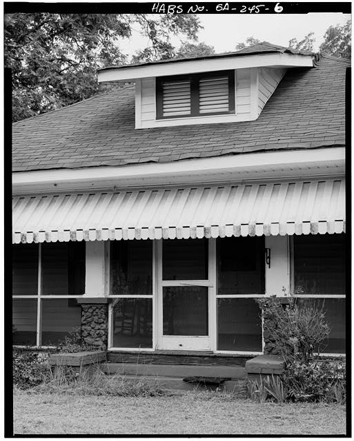 6.  DETAIL, NORTH PORCH ENTRANCE - Jimmy Carter Boyhood Home, Old Plains Highway (Lebanon Cemetery Road), Plains, Sumter County, GA