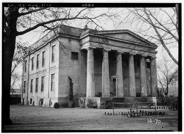 1.  Historic American Buildings Survey Branan Sanders, Photographer March 1934 FRONT VIEW (NORTHEAST) - Old Medical College, 598 Telfair Street, Augusta, Richmond County, GA