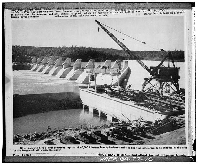 - Water Power Development at Falls of Chattahoochee, Chattahoochee River, Columbus, Muscogee County, GA
