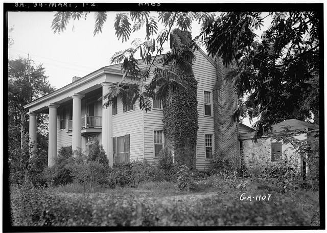 2.  Historic American Buildings Survey L. D. Andrew, Photographer Aug. 6, 1936 GENERAL VIEW FROM SOUTHWEST - Fraser-Couper House, Marietta, Cobb County, GA