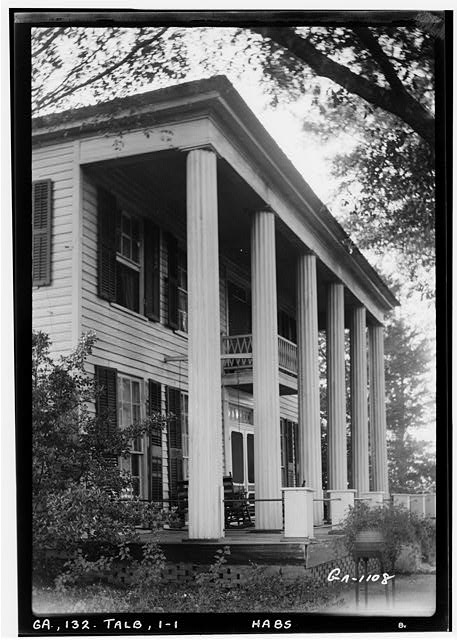 1.  Historic American Buildings Survey L. D. Andrew, Photographer Oct. 24, 1936 VIEW OF FRONT COLONADE - Hill-Leonard House, Talbotton, Talbot County, GA