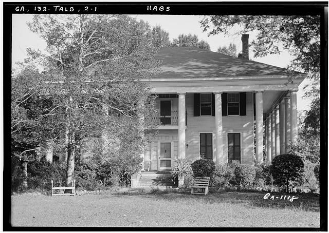 1.  Historic American Buildings Survey L. D. Andrew, Photographer Oct. 24, 1936 VIEW OF FRONT - Dr. Leonard House, Macon Road, Talbotton, Talbot County, GA