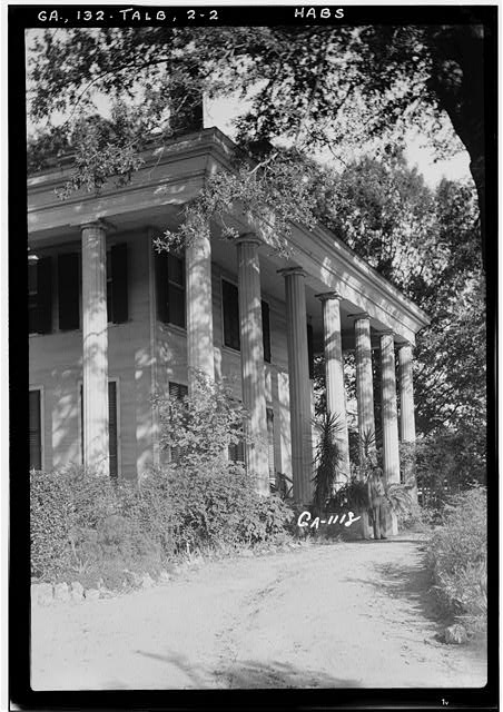 2.  Historic American Buildings Survey L. D. Andrew, Photographer Oct. 24, 1936 GENERAL VIEW OF SIDE (Faces West) - Dr. Leonard House, Macon Road, Talbotton, Talbot County, GA