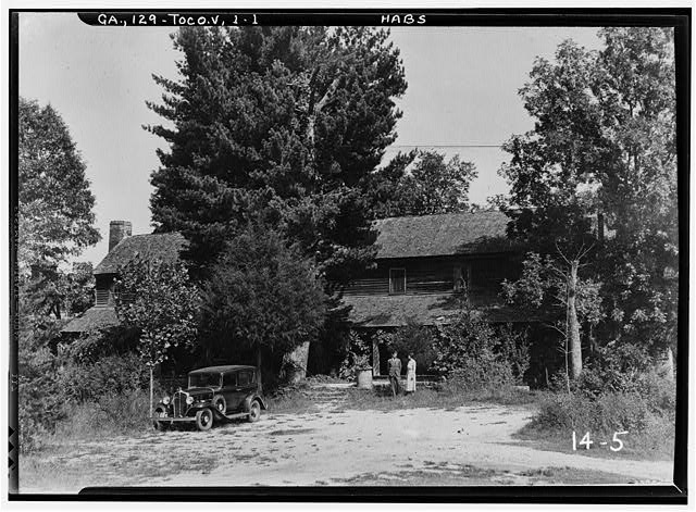 1.  Historic American Buildings Survey Branan Sanders, Photographer March 1934 FRONT VIEW WEST - Travelers Rest, Toccoa, Stephens County, GA
