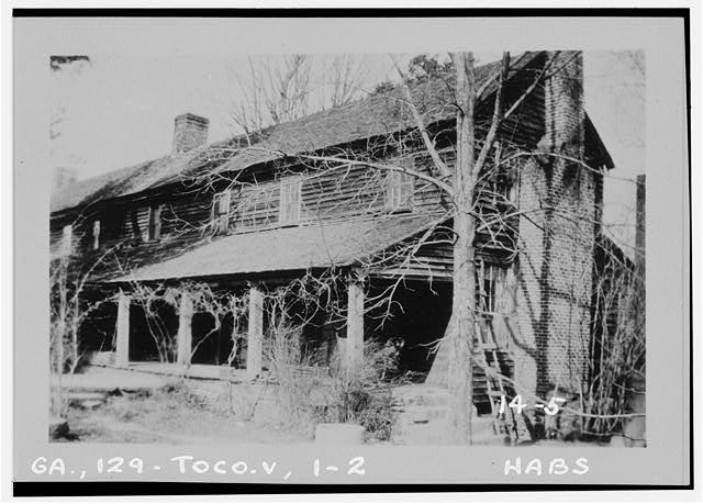 2.  Historic American Buildings Survey Branan Sanders, Photographer March 1934 SOUTHWEST END VIEW - Travelers Rest, Toccoa, Stephens County, GA