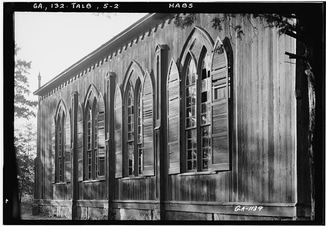 2.  Historic American Buildings Survey L. D. Andrew, Photographer Oct. 24, 1936 VIEW OF SIDE - Episcopal Church, Talbotton, Talbot County, GA