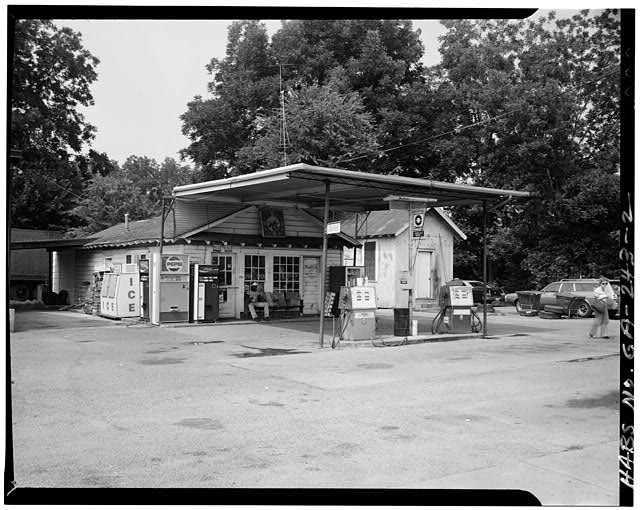 2.  VIEW OF THE GAS STATION - Billy Carter Service Station, 216 West Church Street, Plains, Sumter County, GA