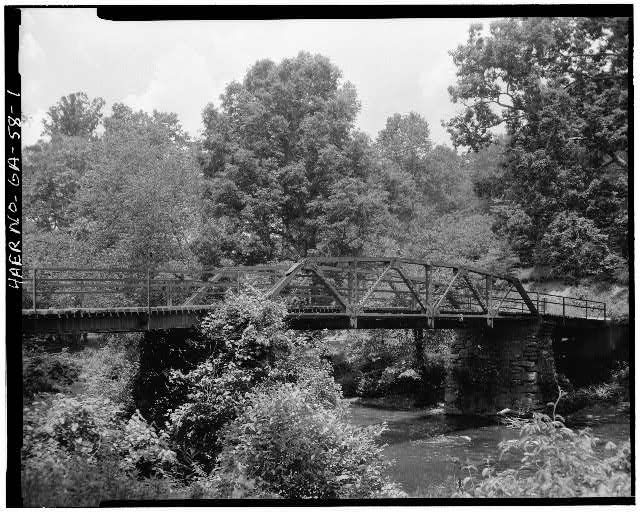 1.  VIEW SHOWING EAST ELEVATION - Fannin County Road 222 Bridge, Spanning Toccoa River, Dial, Fannin County, GA