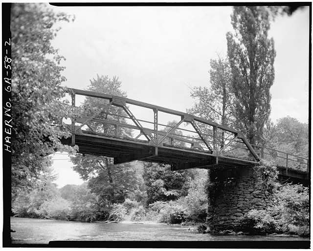 2.  VIEW SHOWING WEST ELEVATION - Fannin County Road 222 Bridge, Spanning Toccoa River, Dial, Fannin County, GA