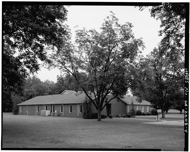 4.  EAST REAR AND NORTH SIDE OF EDUCATION WING - Maranatha Baptist Church, Georgia Highway 49 near Hospital Street, Plains, Sumter County, GA