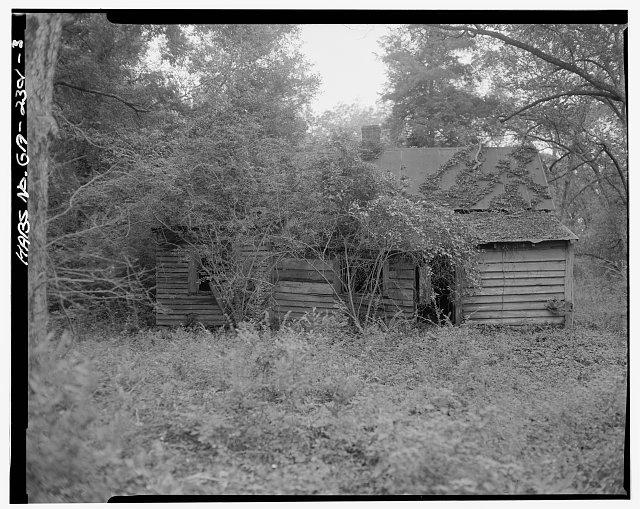 3.  South rear - Rambo-Ivey Tenant House, East of U.S. 27/State Route 1, North of County Road 132, Bluffton, Clay County, GA