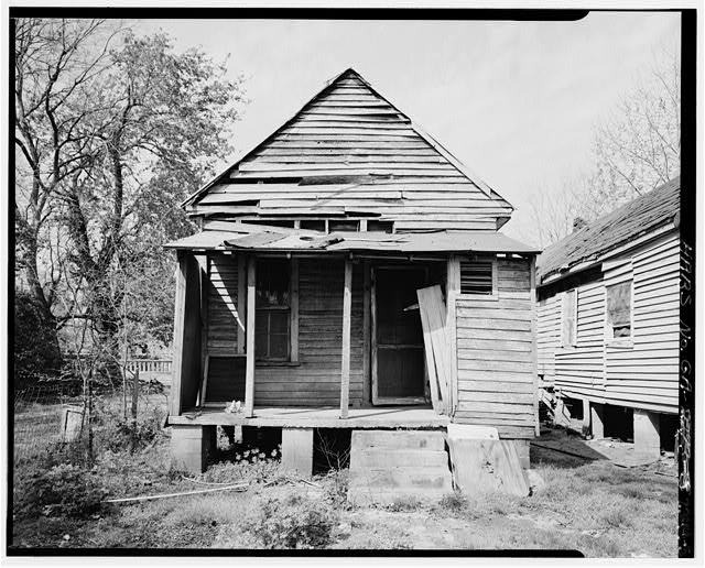 5.  View showing east rear elevation - 1636 Fourth Street (House), Columbus, Muscogee County, GA