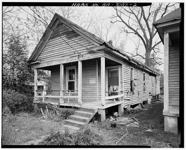 2.  View showing west front and south side elevations - 1638 Fourth Avenue (House), Columbus, Muscogee County, GA